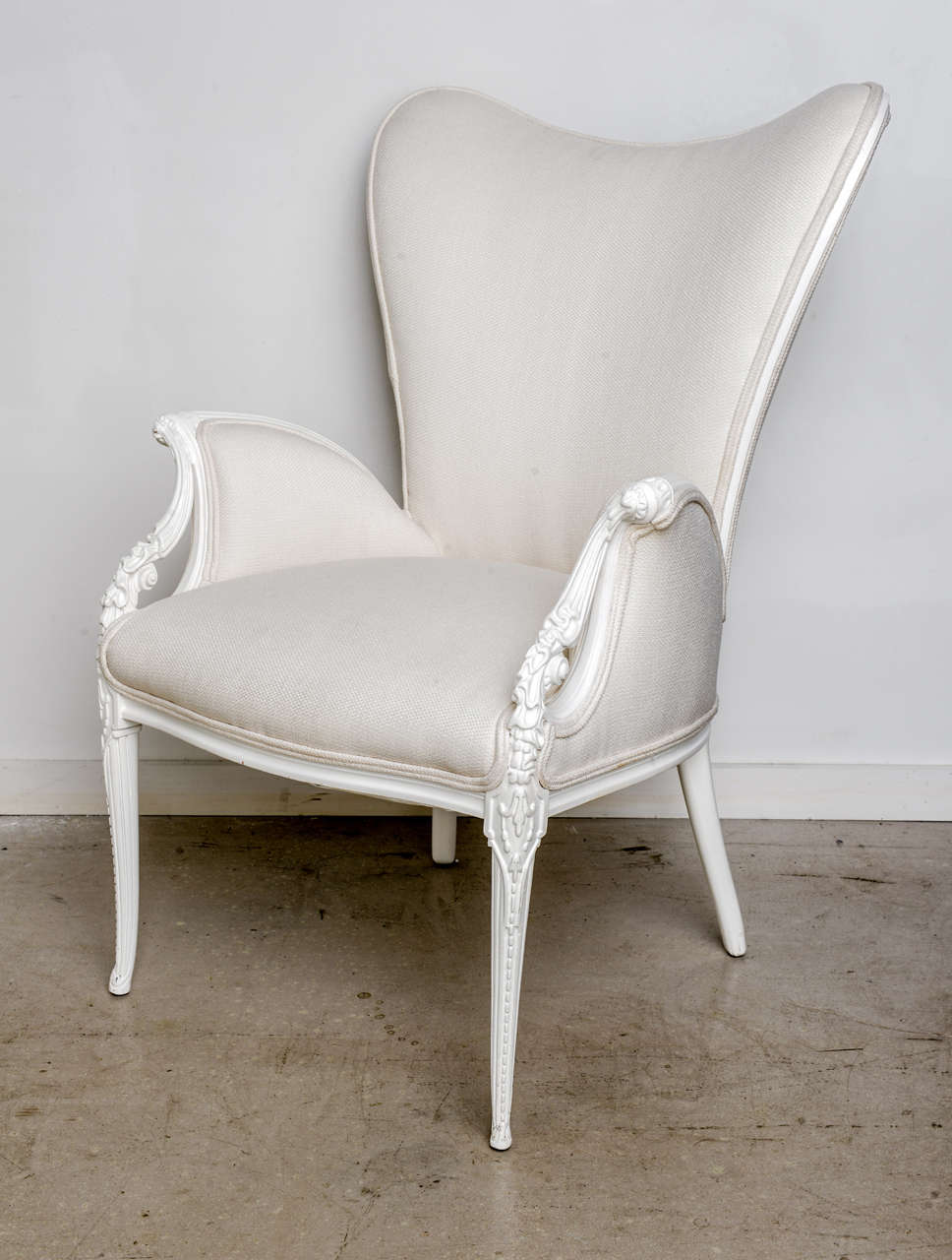 Pair of Hollywood Regency Chairs at 1stdibs