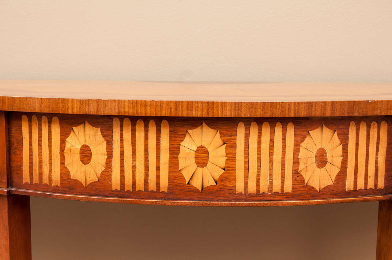 Pair Of Demi Lune Consoles At 1stdibs