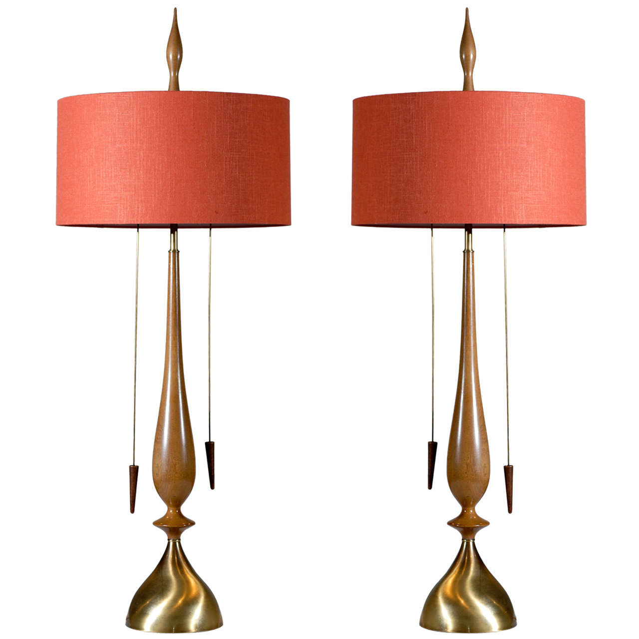 Monumental Pair Of Modern Lamps By Frederick Cooper At 1stdibs
