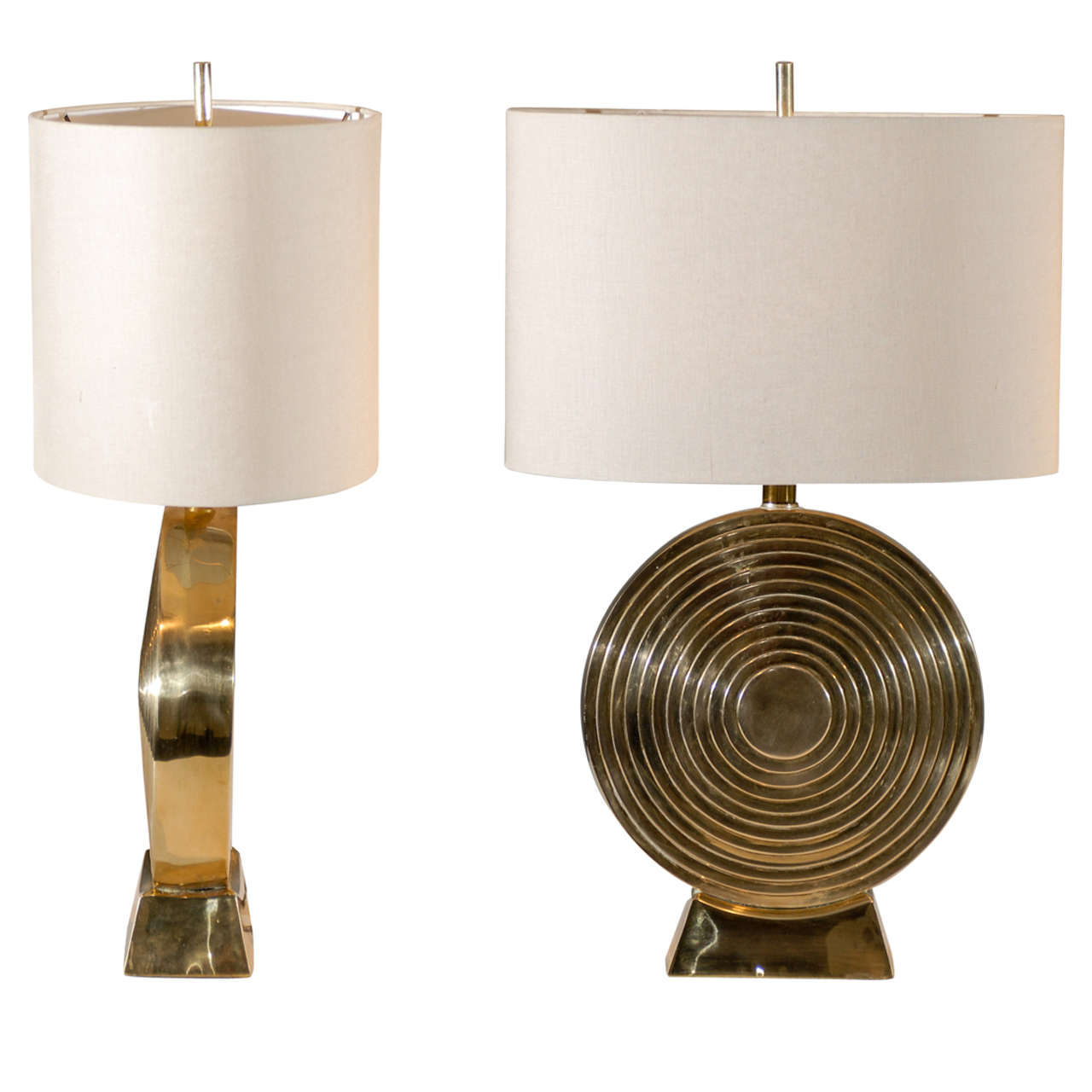 Beautiful Pair Of Solid Brass Medallion Style Lamps At 1stdibs