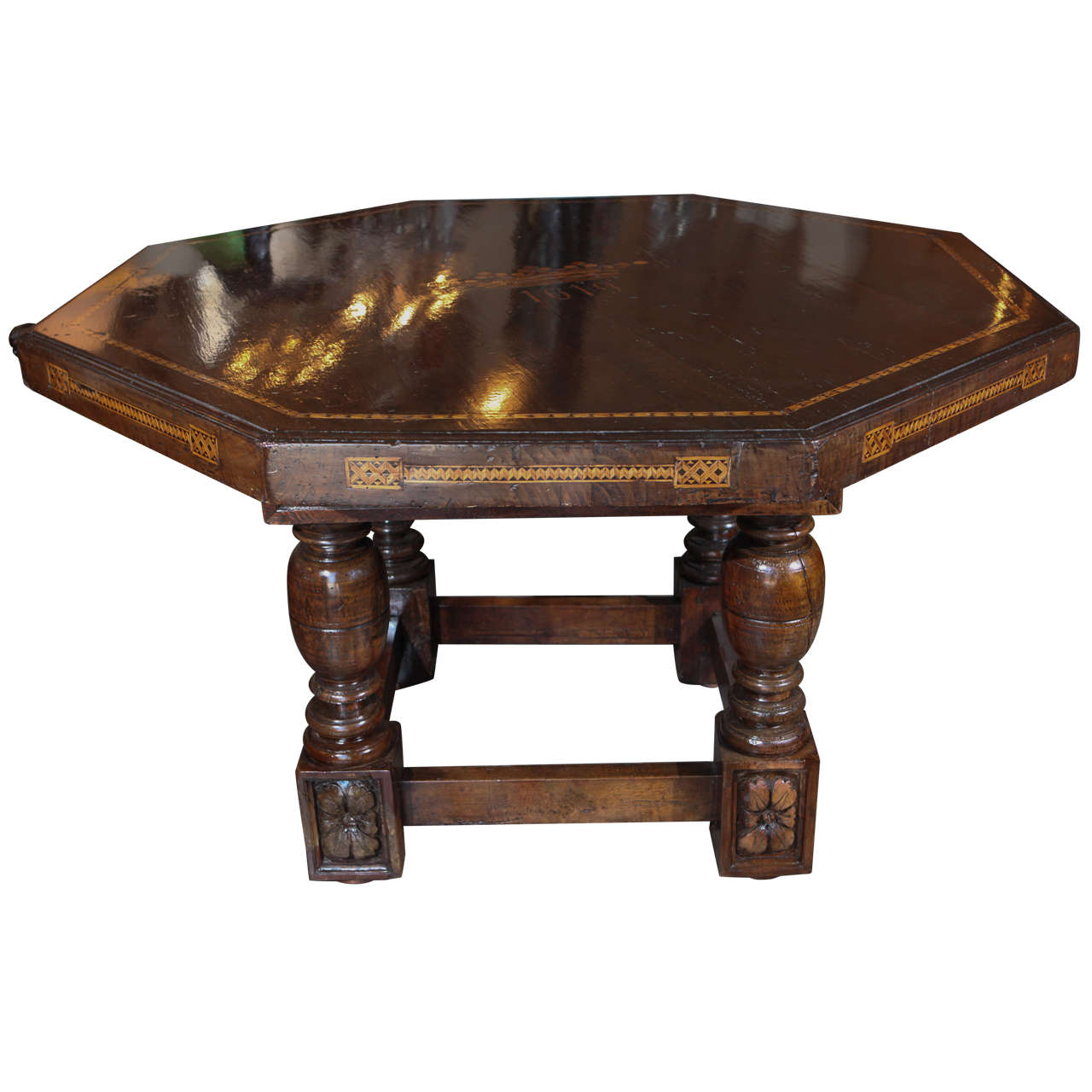 Large italian inlaid center table for sale at 1stdibs for Furniture centre table