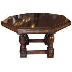 Large, Antique, Inlaid Center Table
