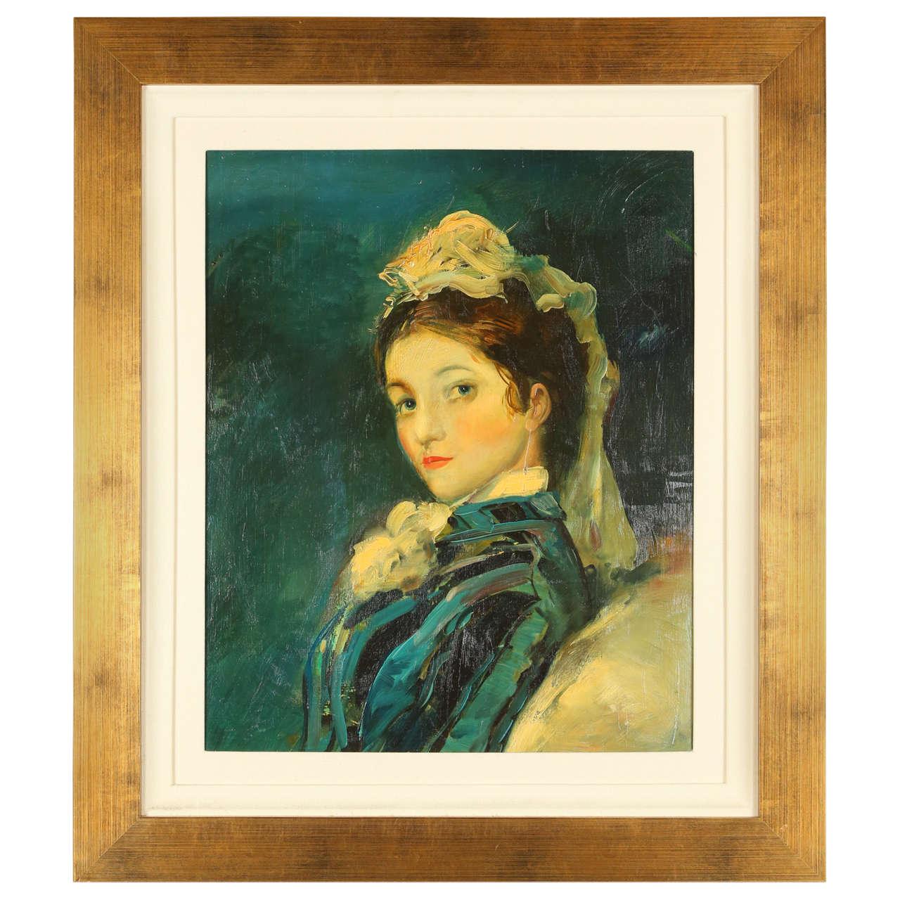 Painting of Victorian Era Woman