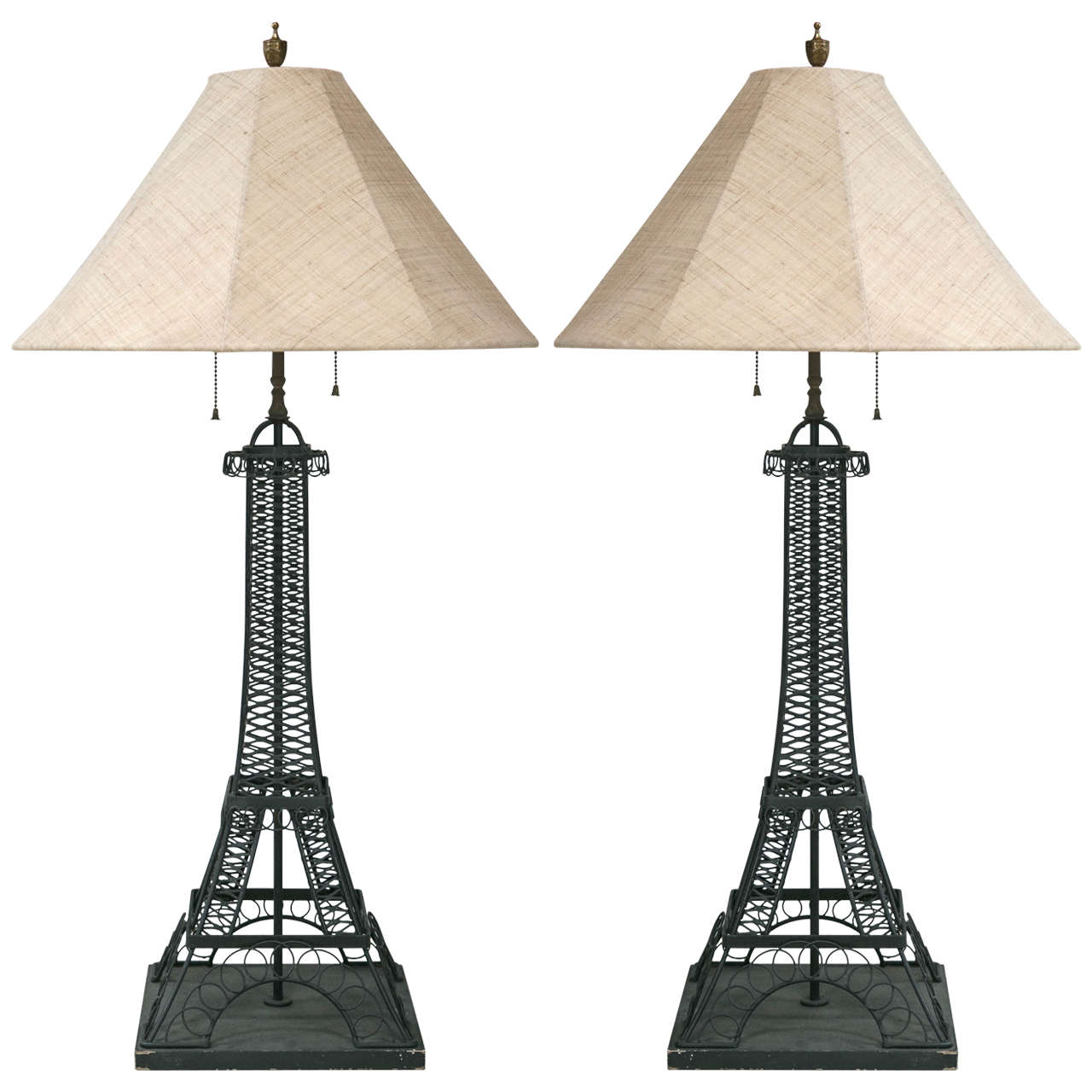Pair Of Eiffel Tower Lamps For Sale