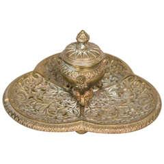 Bronze English Inkwell