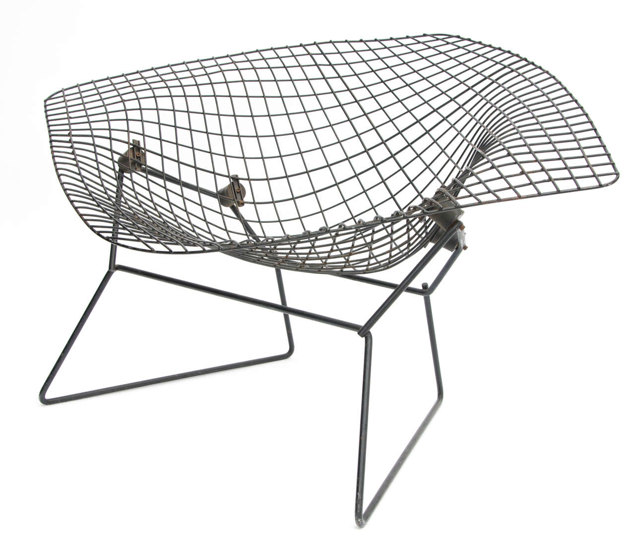 Bertoia diamond chair black - Early Wide Diamond Chair By Harry Bertoia 1950s 3