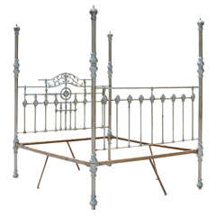 19th Century Steel Anglo Indian Four-Poster Bed Frame