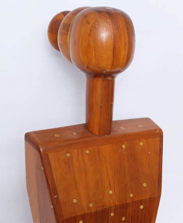 Female Torso Wood Sculpture Signed Mike Nevelson, 1961 For Sale 1