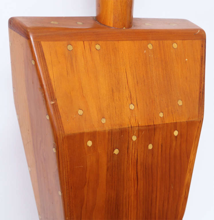 Female Torso Wood Sculpture Signed Mike Nevelson, 1961 In Excellent Condition For Sale In New York, NY