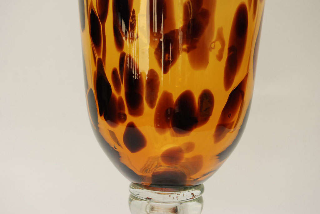 Glass Turtle Shell Decorative Centerpiece Bowl : Faux tortoise shell glass vase at stdibs
