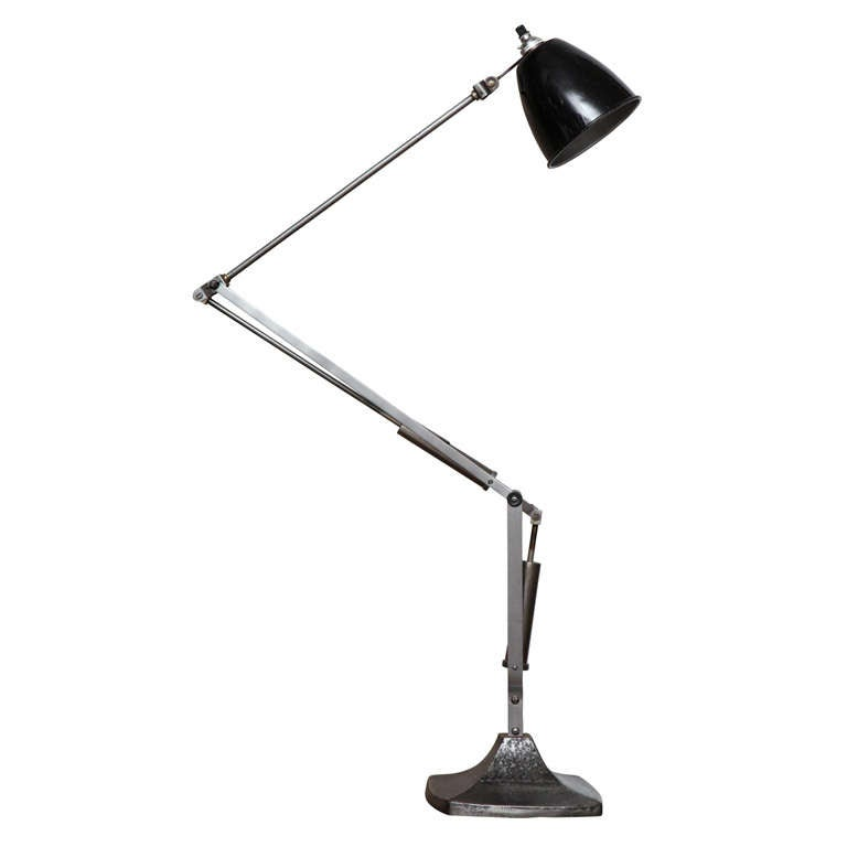 English Industrial Task Lamp For Sale