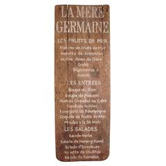 La Mere Germaine French Menu Sign