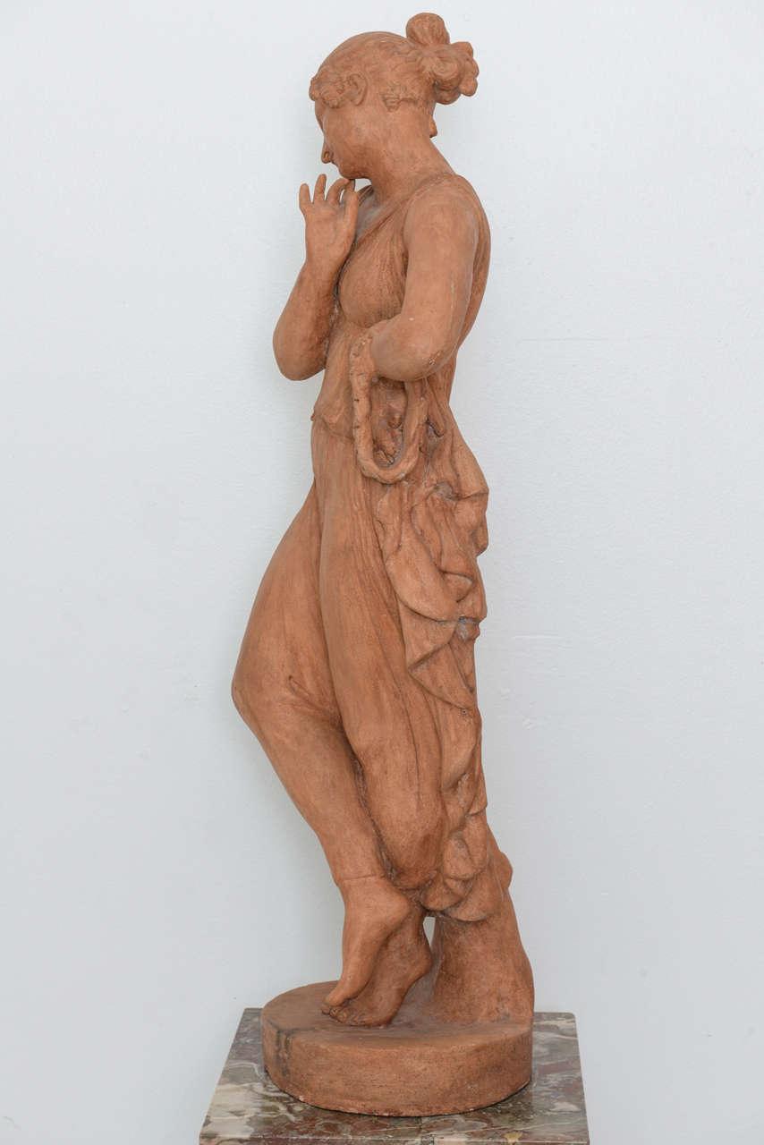 Neoclassical Greco Roman Terracotta Garden Sculpture