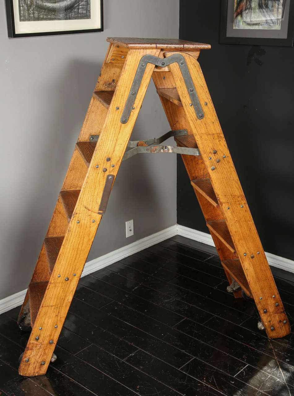 Putnam And Co Library Ladder From 1930s At 1stdibs
