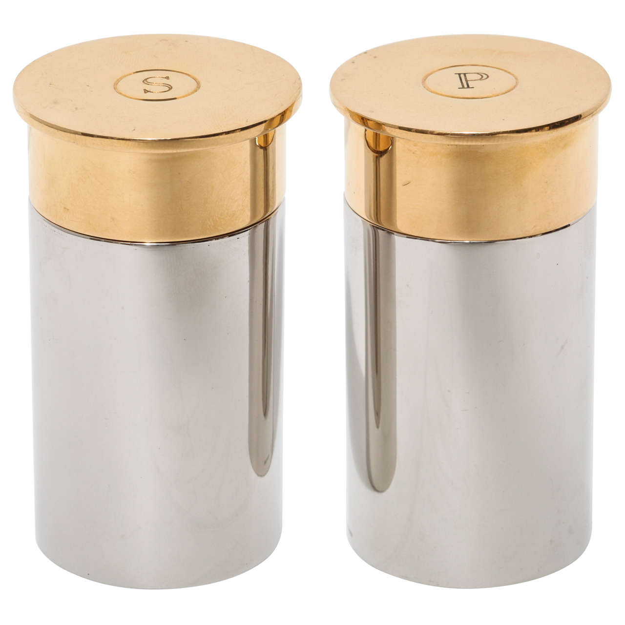 hermes bullet salt and pepper shakers at stdibs - hermes bullet salt and pepper shakers