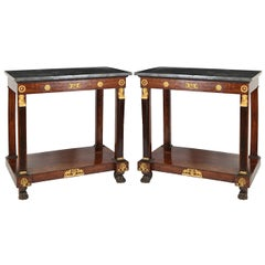 Pair of French Empire Consoles Tables 1815