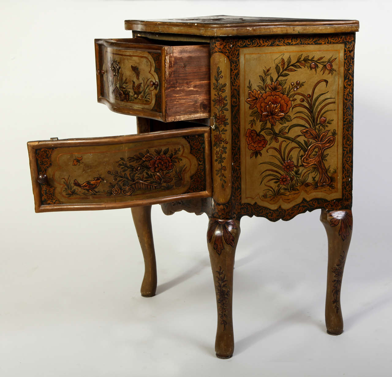 Pair of Small Italian Lacquered Commodes 19' century For Sale 2