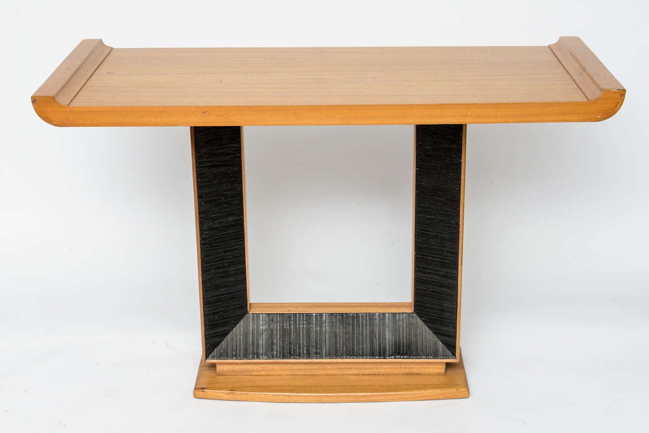 An Unusual Paul Frankl Walnut Console Table 2 Part 96