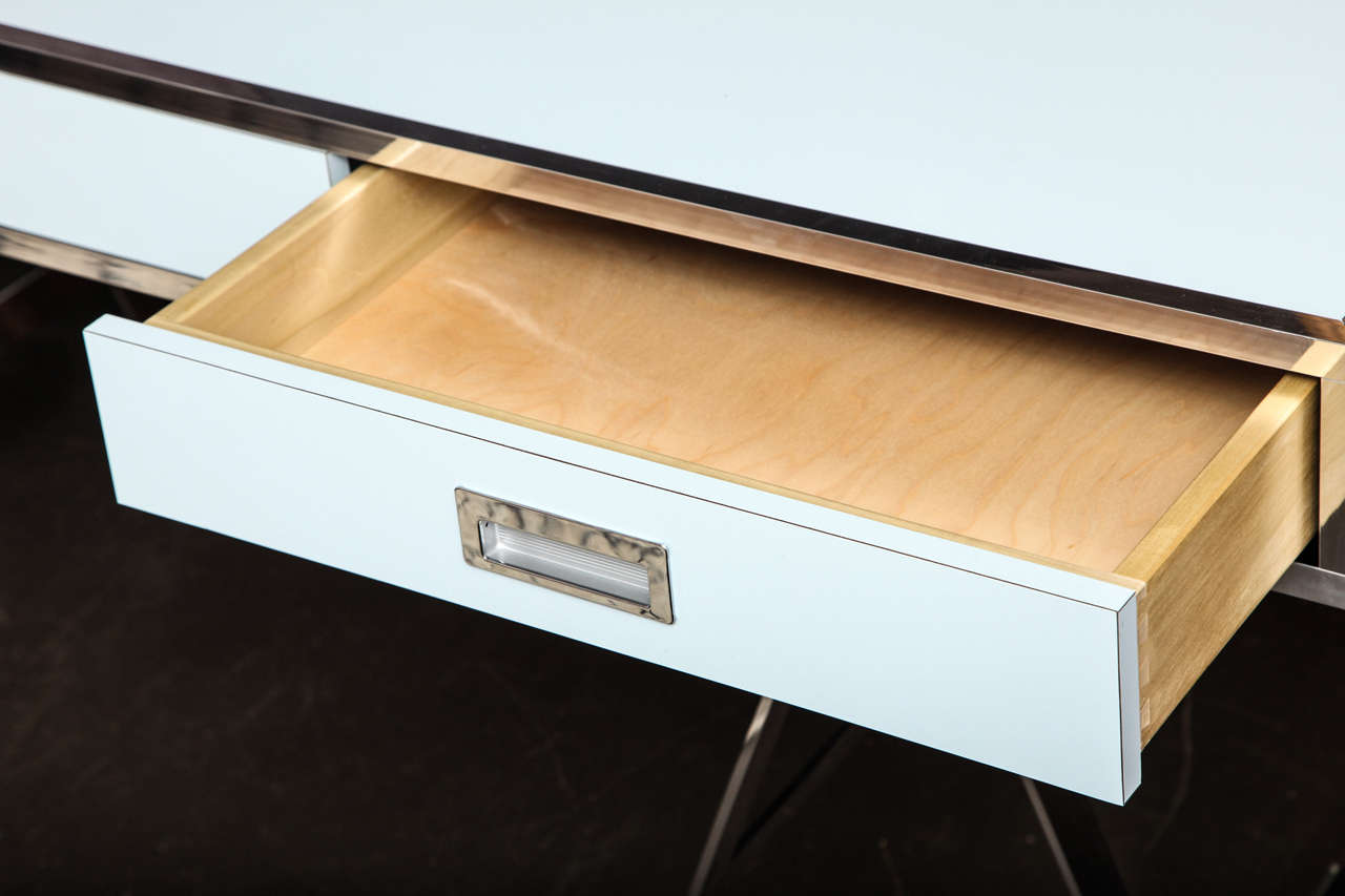 Albrizzi Trestle Desk New Larger Size In Excellent Condition For Sale In New York, NY
