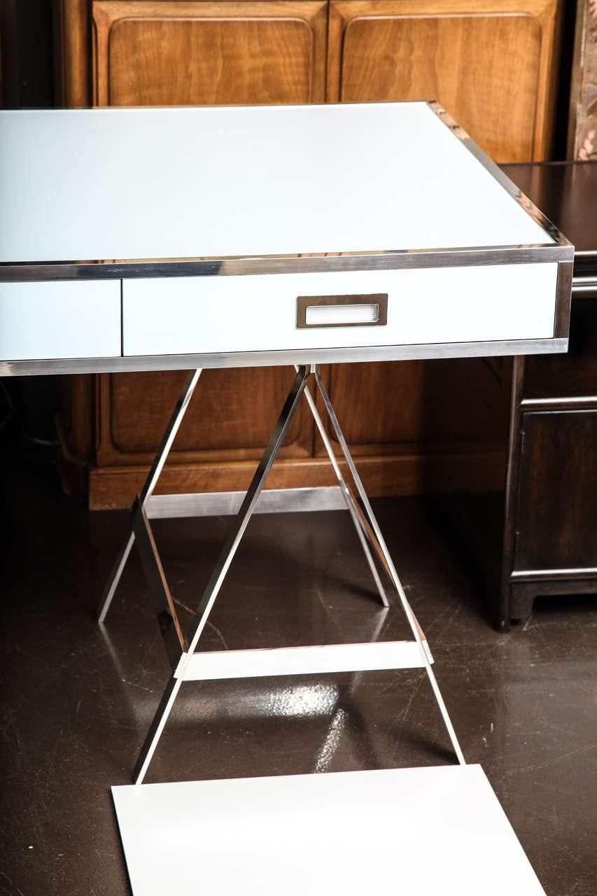 American Albrizzi Trestle Desk New Larger Size For Sale