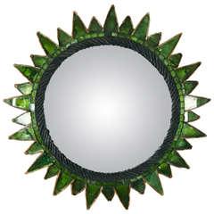 Line Vautrin, Sun Mirror in Green (Soleil à pointes, Vert)