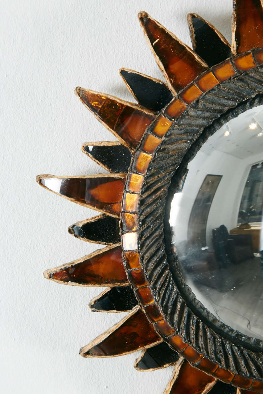 French Line Vautrin, Sun Mirror No.2 'Soleil à pointes N°2' For Sale