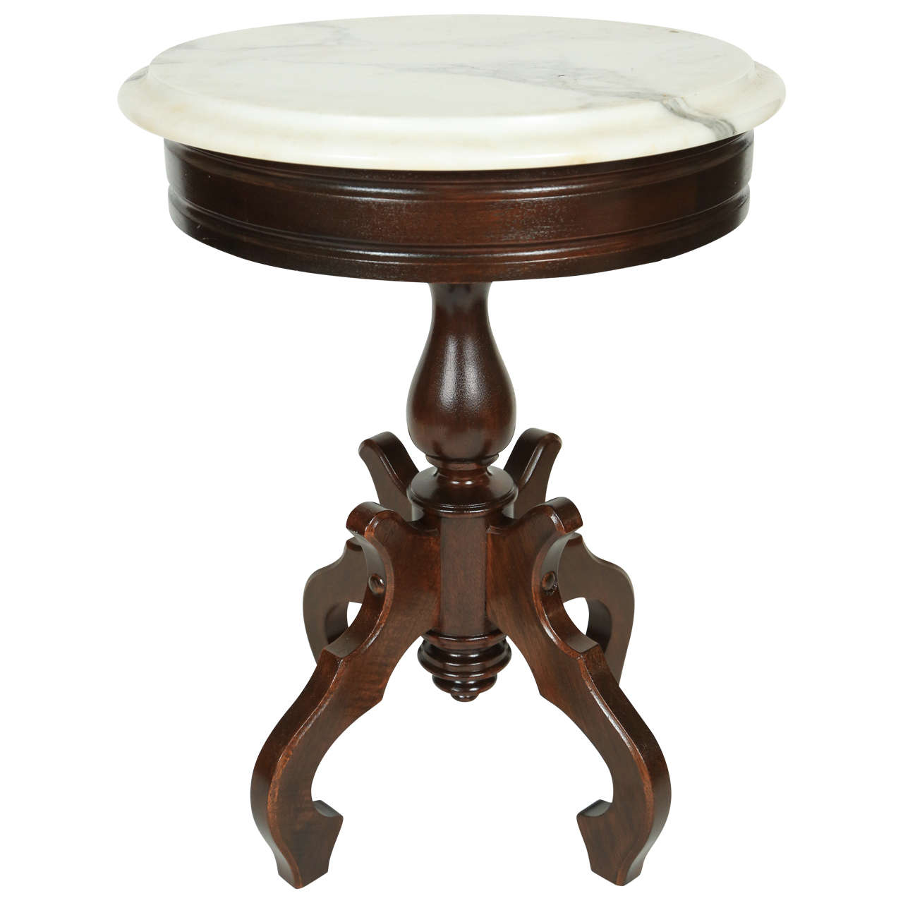 Victorian Gany Table With Marble Top At 1stdibs
