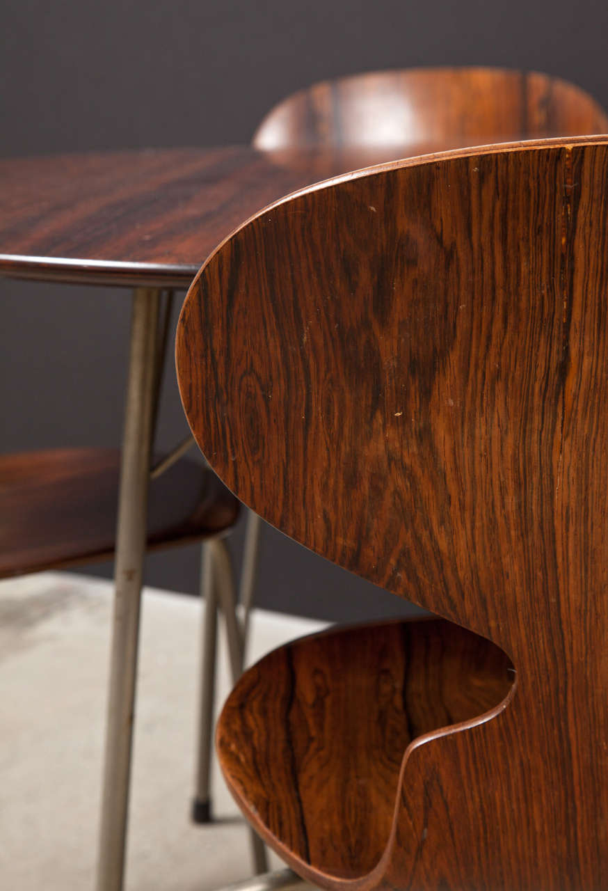 Ant Rosewood Table and Dining Chair Set by Arne Jacobsen 3