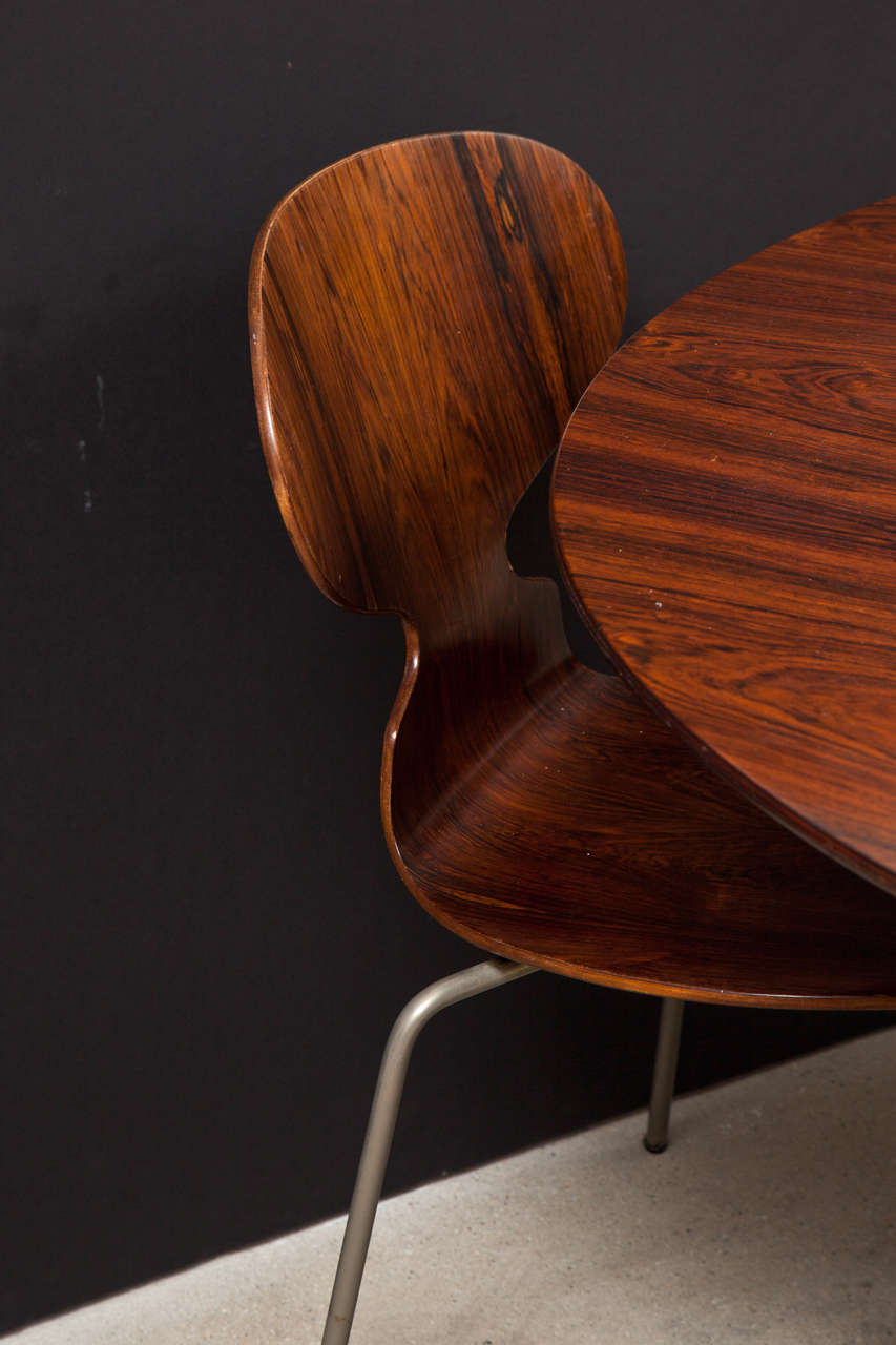 Ant Rosewood Table and Dining Chair Set by Arne Jacobsen 6