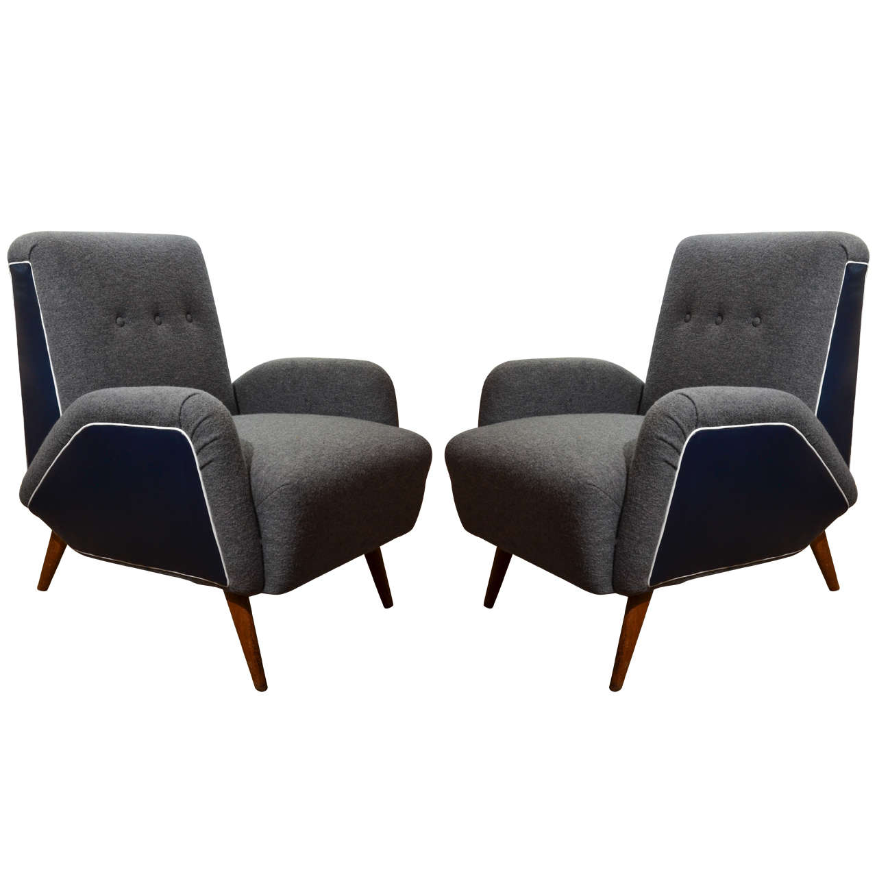 Midcentury Italian Armchairs in the Style of Ico Parisi