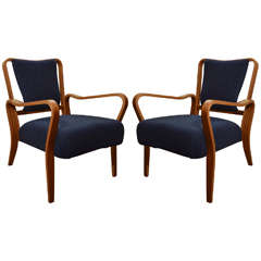 "Pair of ""Linden"" Beech Armchairs by J.A. Jenkins"