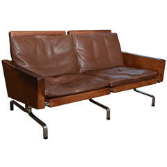 Poul Kjaerholm PK 31 Leather and Steel 1958 Sofa