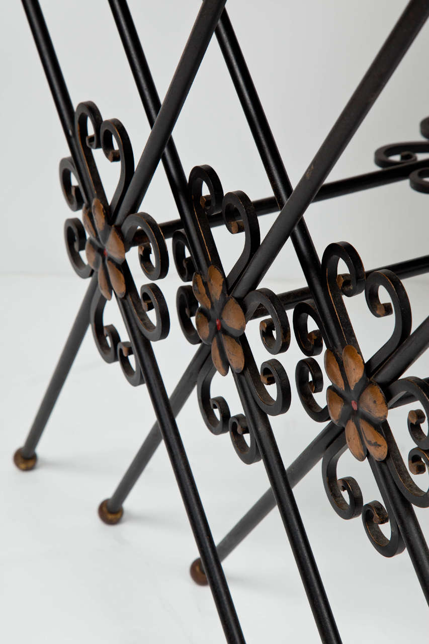 French Wrought Iron Nesting Tables In Good Condition For Sale In New York, NY