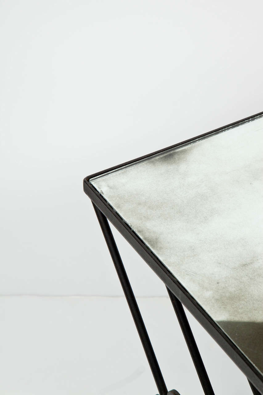 20th Century French Wrought Iron Nesting Tables For Sale