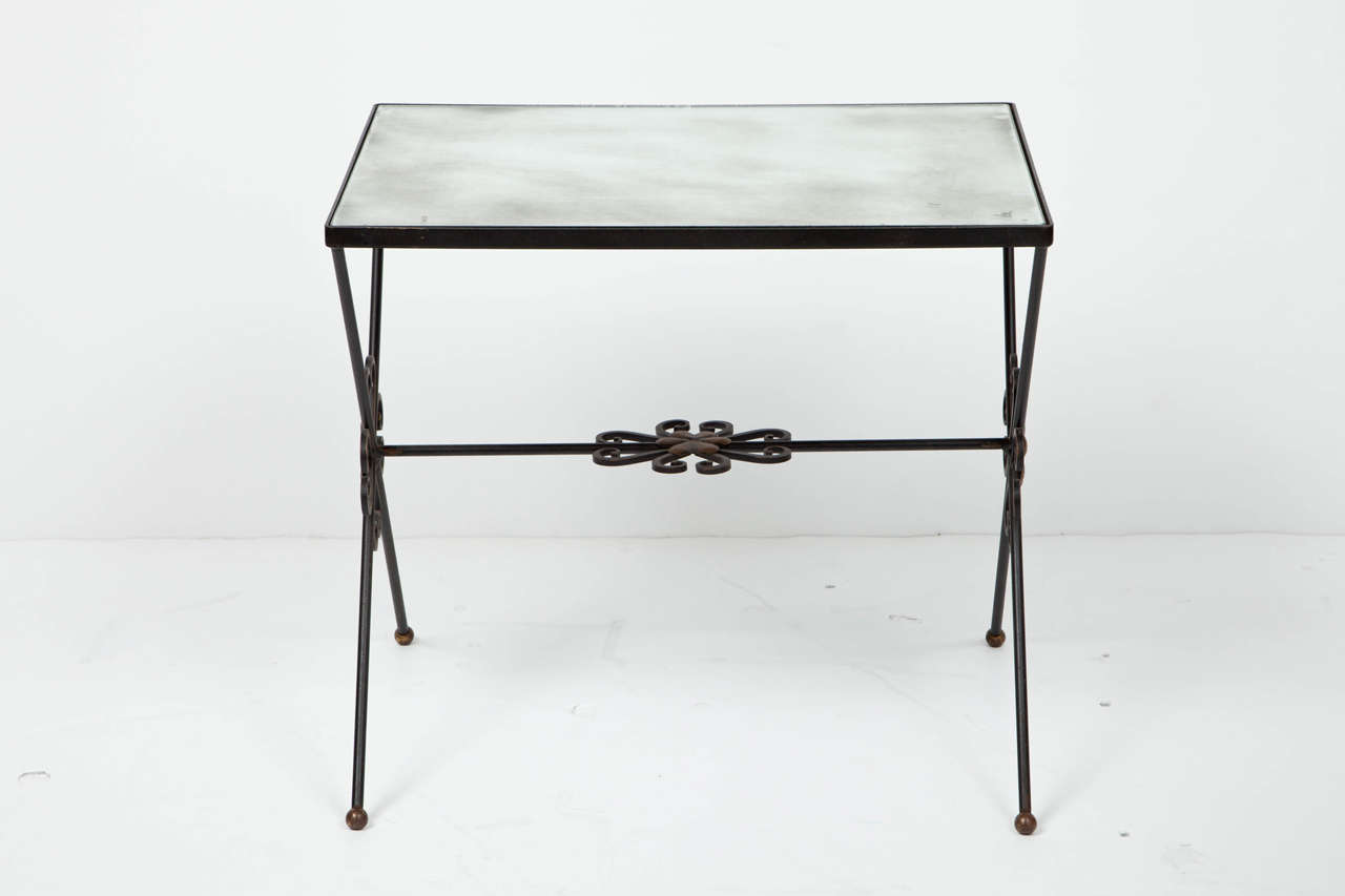 French Wrought Iron Nesting Tables For Sale 1
