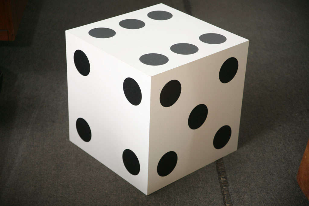 Large Lucky Dice Side Table At 1stdibs