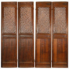 Set of  4 Wooden Screen or Doors Panels