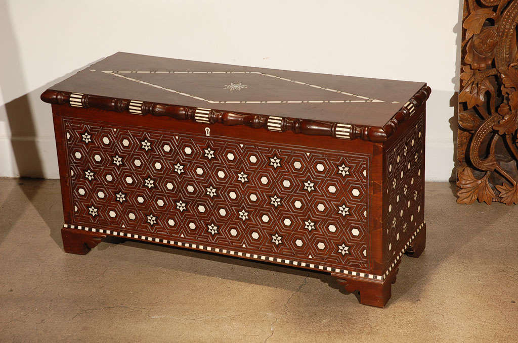 Syrian Wedding Inlaid Chest At 1stdibs