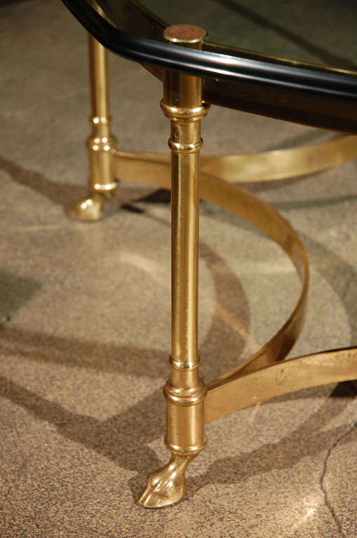 Polished Brass and Glass Octagonal Coffee table, La Barge 6