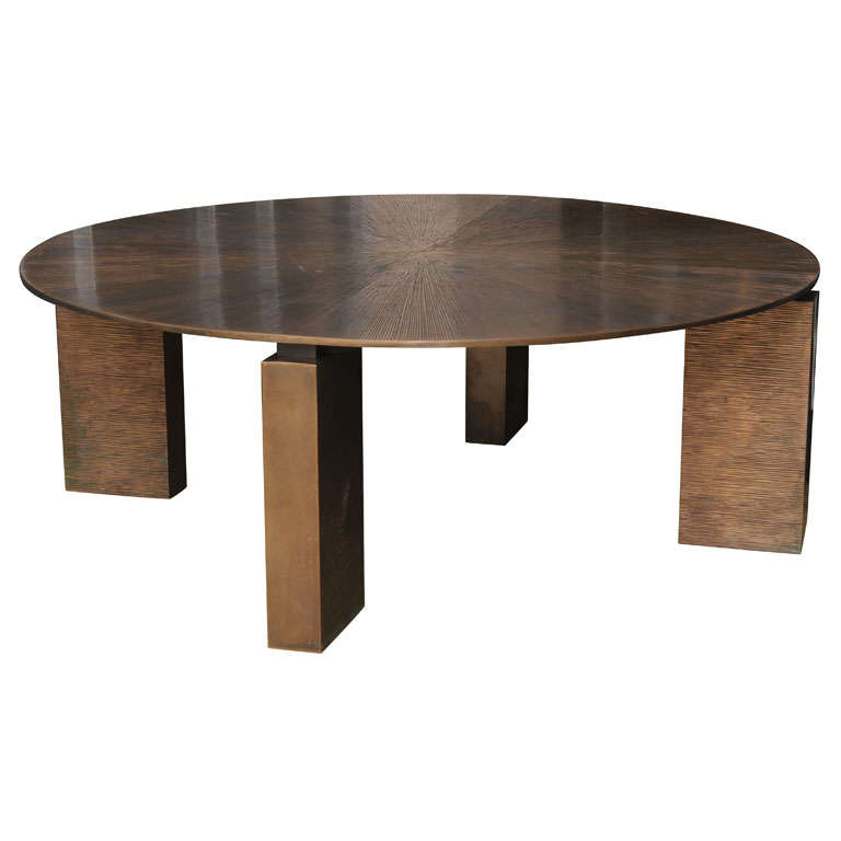 Pickford Coffee Table Bronze: Stylish Cast Bronze Coffee Table At 1stdibs