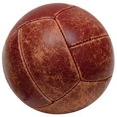 Vintage Leather Medicine Ball