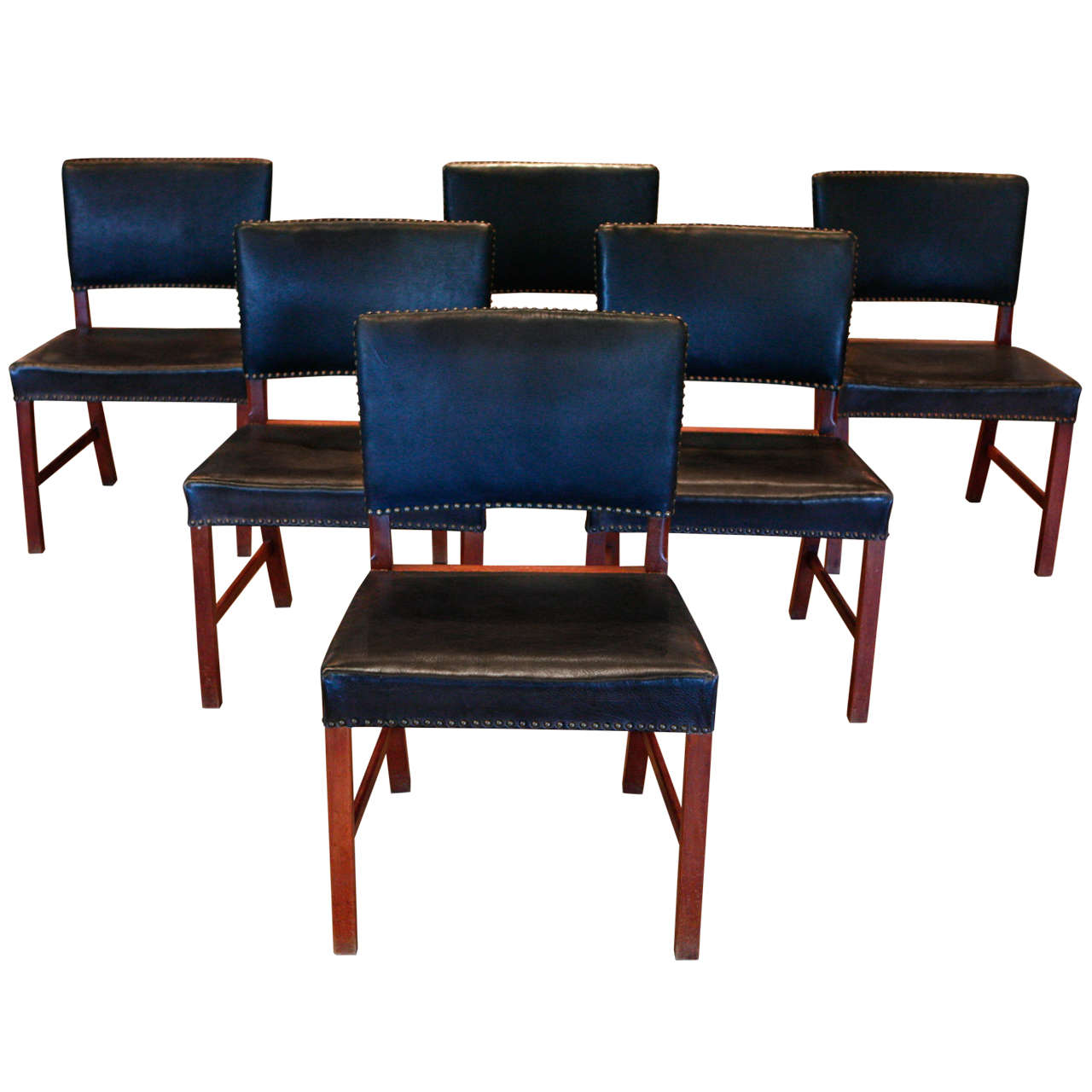Set of Danish Dining Chairs C 1930 at 1stdibs