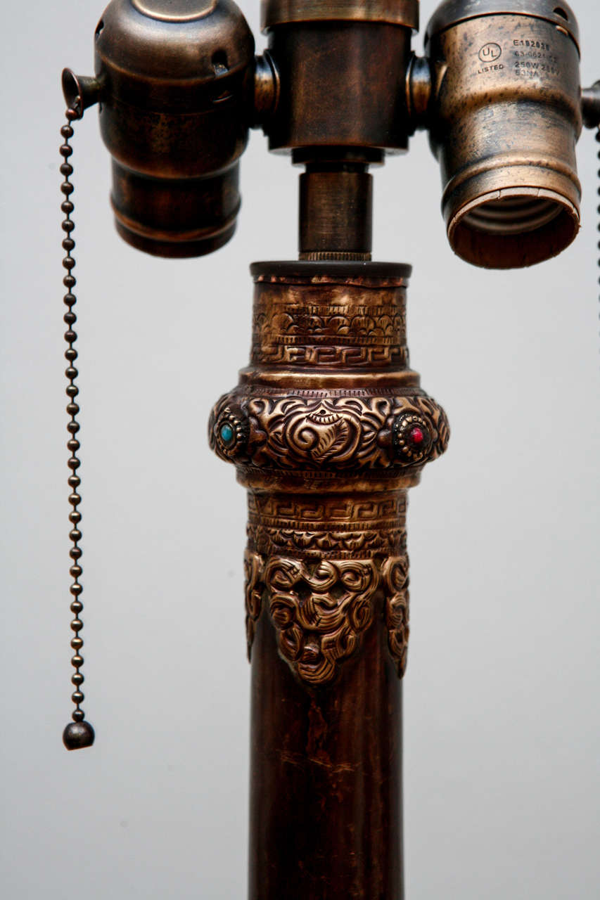 Tibetan Monk S Trumpet Floor Lamp At 1stdibs