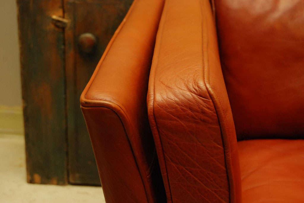 Danish Modern Brown Leather Sofa 5