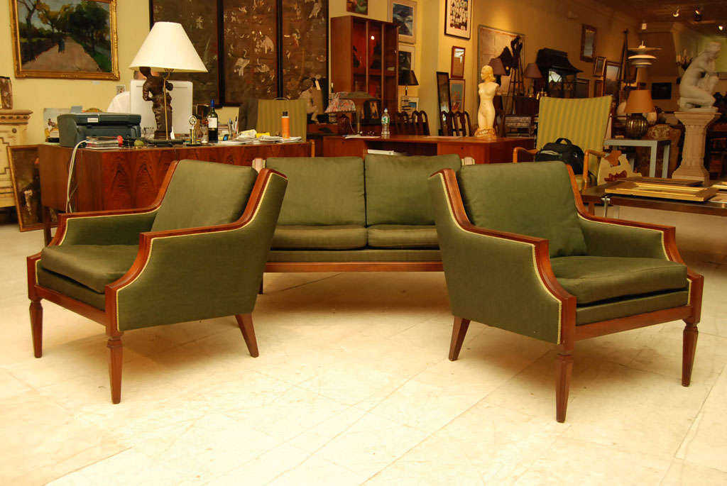 Chic three piece sofa set for sale at 1stdibs for 3 piece living room sets for sale