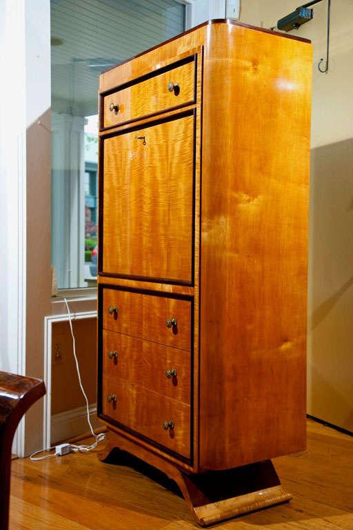 fantastic art deco secretaire abattant at 1stdibs. Black Bedroom Furniture Sets. Home Design Ideas