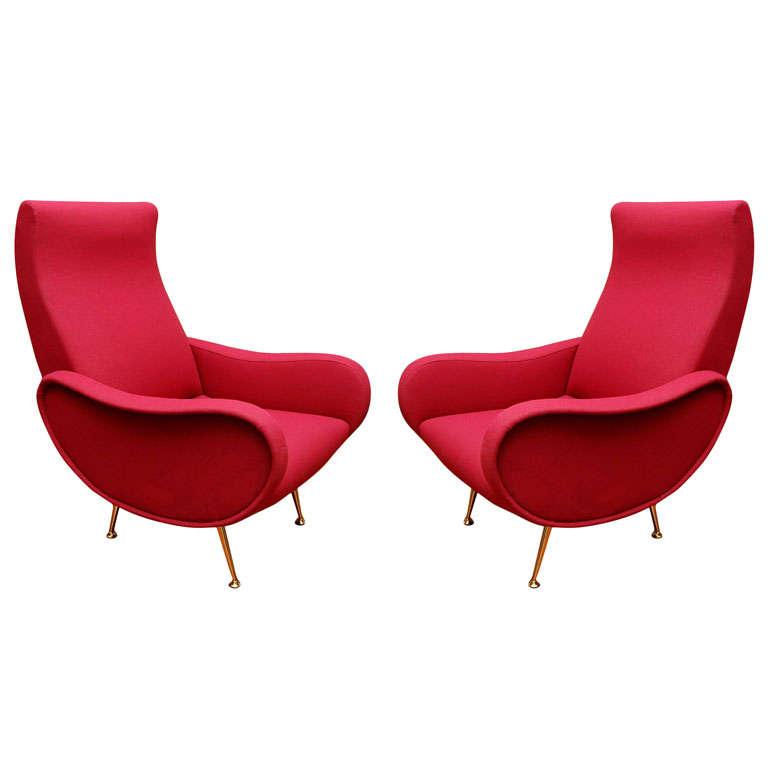 Pair of Italian Modern Armchairs
