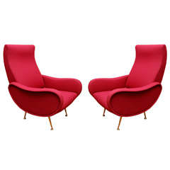 Pair of Italian Modern Armchairs