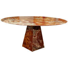 Red Onyx Dinning Table