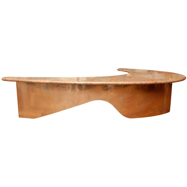 Granite Top Coffee Table At 1stdibs